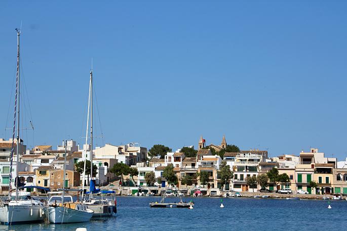 Hafen von Porto Colom auf Mallorca