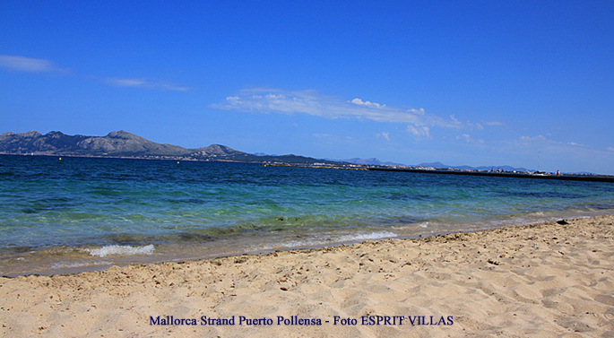 Strand von Puerto Pollensa auf Mallorca