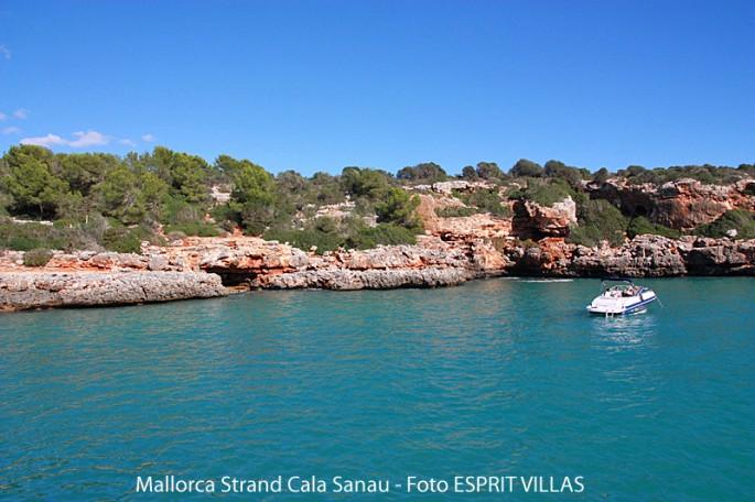 Bucht Cala Sanau auf Mallorca