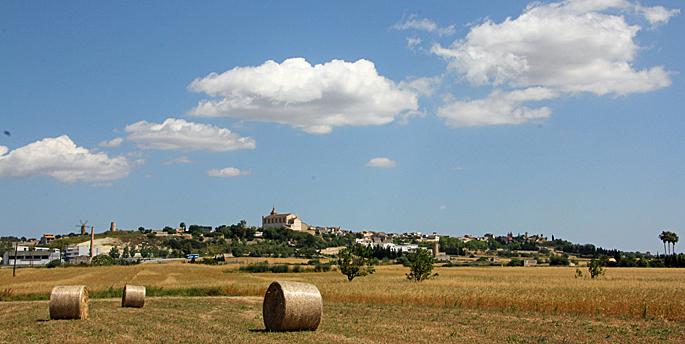 Blick auf Santa Margalida auf Mallorca
