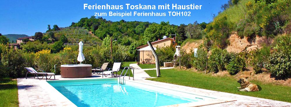 Ferienhaus Toskana mit Hund TOH102