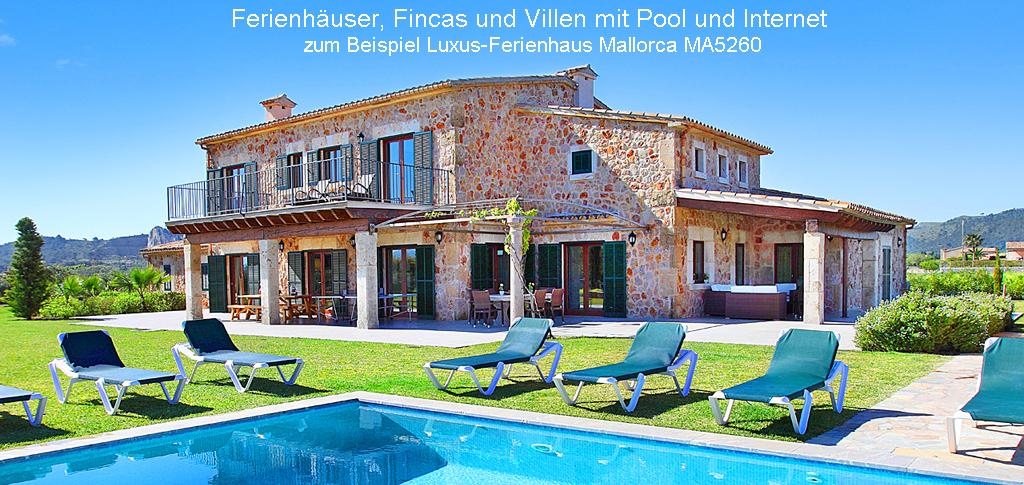 Luxus-Ferienhaus Mallorca mit Internet MA5260