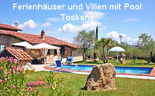 Ferienhäuser und Villen mit Pool Toskana