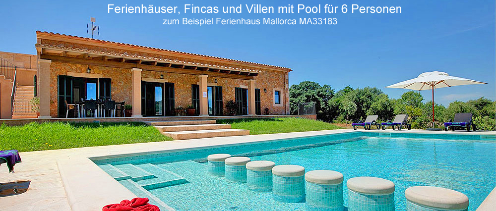 ferienhaus mallorca f r 6 personen mit eigenem pool mieten. Black Bedroom Furniture Sets. Home Design Ideas
