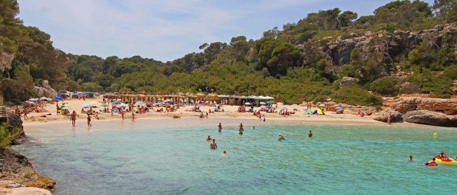 Cala Llombards Strand auf Mallorca