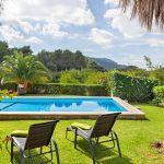 Finca Mallorca 2040 Blick über den Pool