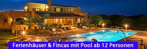 Ferienhäuser & Fincas mit Pool ab 12 Personen