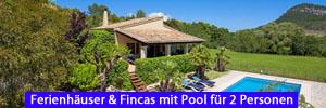 Ferienhäuser & Fincas mit Pool für 2 Personen