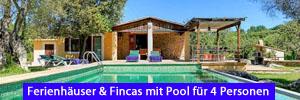 Ferienhäuser & Fincas mit Pool für 4 Personen