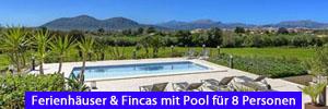 Ferienhäuser & Fincas mit Pool für 8 Personen