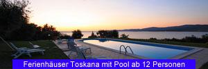 Ferienhäuser Toskana mit Pool ab 12 Personen