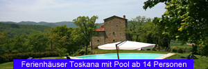 Ferienhäuser Toskana mit Pool ab 14 Personen