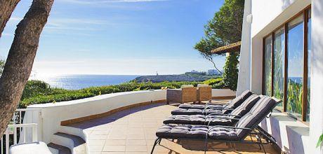 Mallorca Südost – Ferienhaus Cala D'Or 4795 mit Pool direkt am Meer, Strand 600m, Grundstück 1.700qm, Wohnfläche ca. 300qm. Wechseltag Juli + August nur Samstag, Mindestmietzeit 1 Woche.