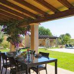 Finca Mallorca MA3950 überdachte Terrasse