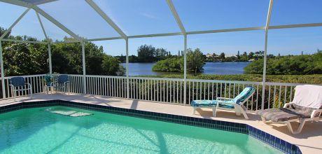 Komfort-Ferienhaus Manasota Beach 41845 mit privatem Pool und herrlichem Blick auf die Bay in Strandnähe (ca. 800m), Grundstück ca. 2.000qm, Wohnfläche ca. 250qm. Wechseltag flexibel.