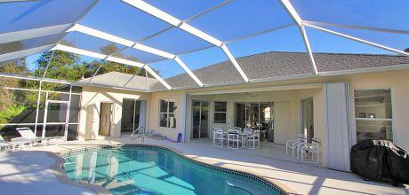Komfort-Ferienhaus Manasota Beach 42550 mit beheizbarem Pool in Strandnähe (ca. 1,2km), Grundstück ca. 1.500qm, Wohnfläche ca. 250qm, Wechseltag flexibel, Mindestmietzeit 1 Woche.