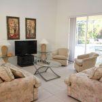 Ferienhaus Florida FVE42550 Wohnbereich mit TV