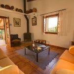 Ferienhaus Mallorca MA2284 Wohnraum mit Kaminofen