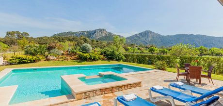 Mallorca Nordküste – Luxus-Finca Pollensa 53371 mit Pool und Whirlpool für 10 Personen. An- und Abreisetag Samstag.