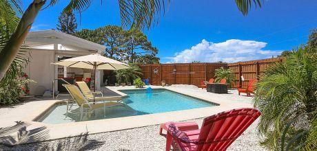 Ferienhaus Florida Venice 22625 mit privatem Pool für 4 Personen in Strandnähe (ca. 1,3km), Grundstück ca. 1.000qm, Wohnfläche ca. 100qm. Wechseltag flexibel, Mindestmietzeit 1 Woche.