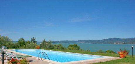 Toskana Ferienhaus San Feliciano 435 mit Pool und herrlichem Seeblick, Wohnfläche 220qm. Wechseltag Samstag, Nebensaison flexibel auf Anfrage.