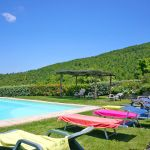 Ferienhaus Toskana TOH745 Sonnenliegen am Pool