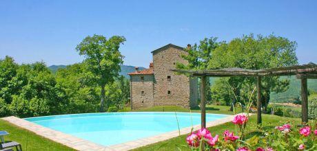 Toskana Ferienhaus Palazzo del Pero 745 für 16 Personen mit Pool, Wohnfläche 400qm. Wechseltag Samstag, Nebensaison flexibel.