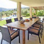 Villa Mallorca MA4292 überdachte Terrasse mit Esstisch