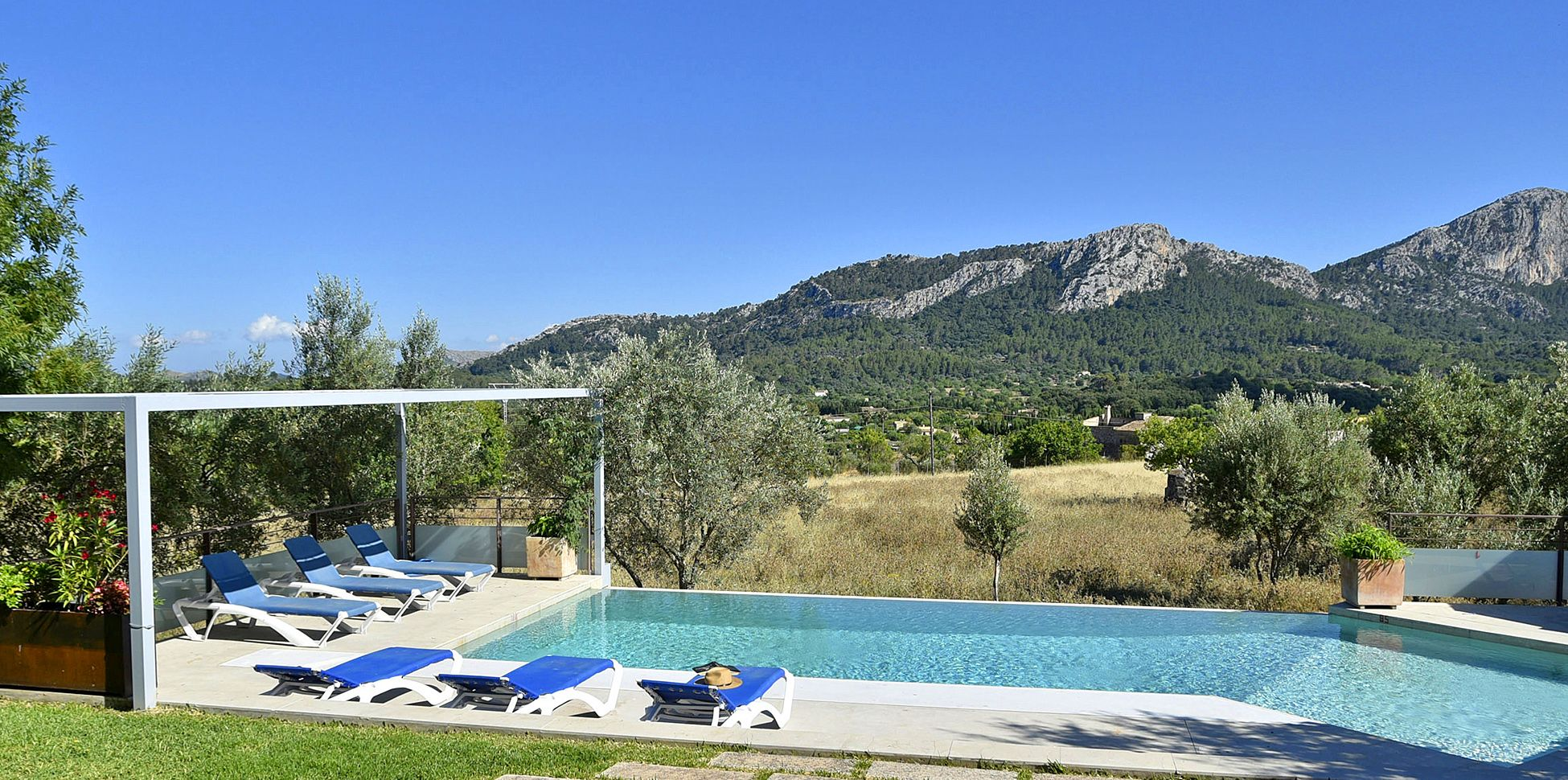 Villa Mallorca MA4292 Pool mit Sonnenliegen