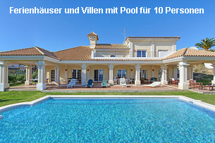 Ferienhäuser Costa del Sol mit Pool 10 Personen