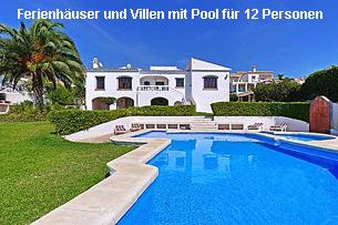 Ferienhäuser Costa del Sol mit Pool 12 Personen