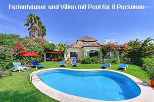 Ferienhäuser Costa del Sol mit Pool 8 Personen
