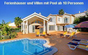 Ferienhäuser und Villen Algarve 10 Personen