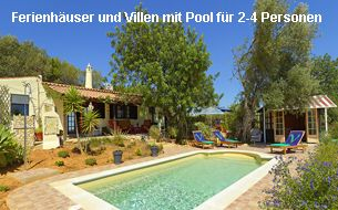 Ferienhäuser und Villen Algarve 2-4 Personen