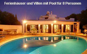 Ferienhäuser und Villen Algarve 8 Personen