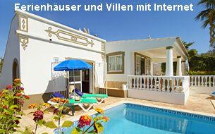 Ferienhäuser und Villen Algarve mit Internet
