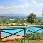 Ferienhaus Toskana TOH350 Blick auf den Pool