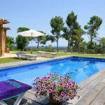 Costa Brava Ferienhaus CBV3177 Sonnenliegen am Pool