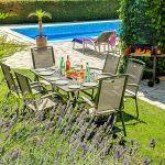 Ferienhaus Costa Brava CBV33232 Garten mit Esstisch