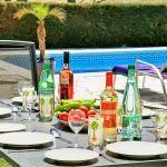 Ferienhaus Costa Brava CBV33232 gedeckter Tisch im Garten