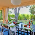 Ferienhaus Costa Brava mit Pool CBV3179 Esstisch auf der Terrasse