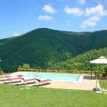 Ferienhaus Toskana mit Pool und Hund TOH380 Garten mit Pool