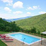 Ferienhaus Toskana mit Pool und Hund TOH380 Pool mit Ausblick