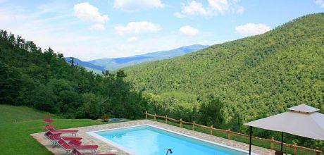 Ferienhaus Arezzo 380 für 5 Personen mit eigenem Pool, Wohnfläche 80qm. Wechseltag Samstag, Nebensaison flexibel – Mindestmietzeit 1 Woche.