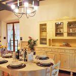 Ferienhaus Toskana mit Pool und Hund TOH409 Küche mit Esstisch
