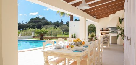 Mallorca Südostküste – Luxus Ferienhaus Calonge 3996 mit Pool, Wohnfläche 100qm. Wechseltag Samstag – Nebensaison flexibel, Mindestmietzeit 1 Woche.