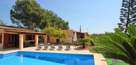 Mallorca Südostküste – Ferienhaus Cala Mondrago 5557 mit Pool, Strand 1,2km. An- und Abreisetag Samstag, Nebensaison flexibel – Mindestmietzeit 1 Woche.