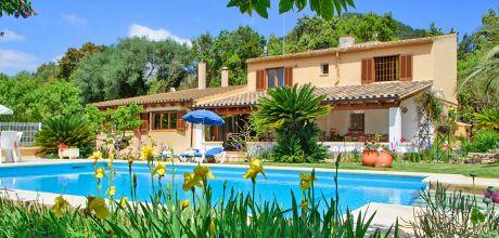 Mallorca Nordküste-  Ferienhaus Campanet 3351mit Pool und Internet für 6 Personen, Grundstück 6.000qm, Wohnfläche 140qm. An- und Abreisetag Samstag. – 2018 jetzt buchen!