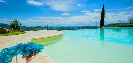 Ferienhaus Toskana mit Pool Castiglion Fiorentino 4666 für 8 Personen mit herrlichem Ausblick. An- und Abreisetag Samstag.