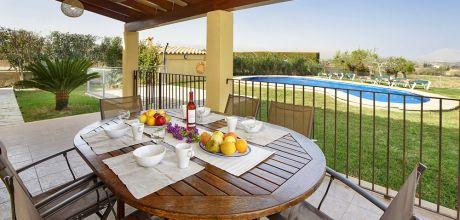 Mallorca Nordküste – Ferienhaus Pollensa 3381 mit Pool für 6 Personen, Grundstück 10.000qm, Wohnfläche 130qm. An- und Abreisetag nur Samstag.